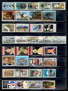 25 Cent 64 Stamps 1988-1991 US Lot Used