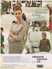 PUBLICITE ADVERTISING 115  1960  RODIER   tricots polos  RTL radio ROUGE & NOIR