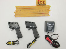 TYCO YELLOW TERMINAL TRACK, 2 CONTROLS & 20 VOLT POWER PACK TRANSFORMER, TESTED