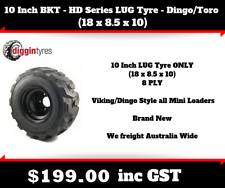 "10"" BKT - HD Series LUG TYRE ONLY - DINGO/TORO (18 x 8.5 x 10) 8 PLY"