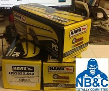 HAWK PERFORMANCE CERAMIC REAR PADS suit NISSAN 180SX 1.8L IMPORT TURBO 1988-90