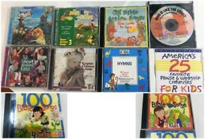 Childrens Bible Scripture Sunday School CD Lot 10 Sing-A-Long Hymns Christian