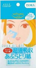 Kose Cosmeport Softymo Super Quick Oil Off Blotting Paper 150 sheets From Japan