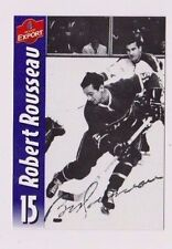 Molson Export Beer Robert Rousseau Montreal Canadiens Autographed Card