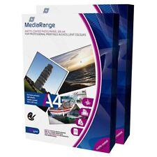 Mediarange papel foto Laser mate 120 G/m2 pack 100 UDS A4