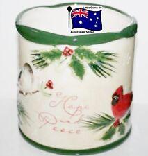 YANKEE CANDLE LARGE JAR HOLDER ~ HOLIDAY SENTIMENTS ~ FOR JARS Large or Medium