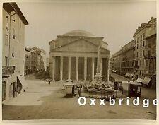 1880 Street Scene Rome Albumen Photo Roma Pantheon/San Giovanni Roman Design
