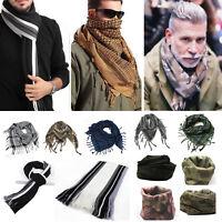 Men Women Scarf Warm Wrap Neck Army Shawl Soft Cashmere Blend Scarve Tassel Gift