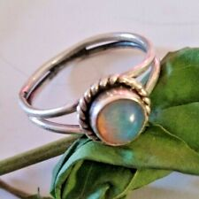 Triplet Opals Ring Sterling Silver Vintage Ring Healing Ring Delicate Ring Gift