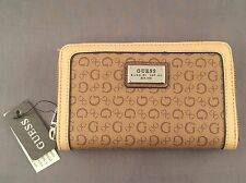 Guess Portola SLG Double Zip Wallet Fits iPhone 6 In Coal Or Brown New With Tags