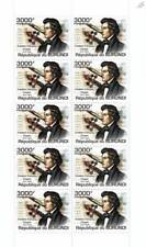 Frédéric CHOPIN / Classical Music Composer Stamp Sheet (2011 Burundi)