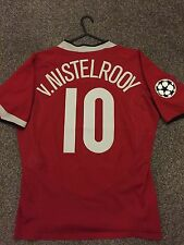 MANCHESTER UNITED 2004/06 CHAMPION LEAGUE HOME SHIRT ADULTS(L) 10 v.NISTELROOY