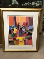 MARCEL MOULY LITHOGRAPH ''Mandole Mauve et Compotier'' Pencil signed Ltd#289/300