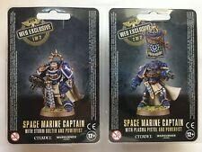 Games Workshop 40K Space Marine Captain Web Exclusive 1 & 2 Limited Edition OOP