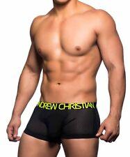 Men's ANDREW CHRISTIAN REACTION MESH BOXER GENUINE 90331 Underwear SIZE S-M-L