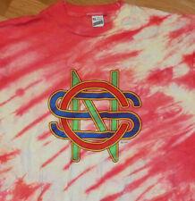 *1982 CROSBY STILLS & NASH* vtg rock concert tour tie-dye shirt (L/XL) 80's CSN