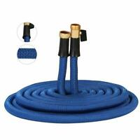 Lastest Heavy Duty Expandable Garden Hose with Brass Connector 100FT BLUE