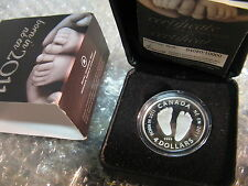 CANADA VERY RARE 2011 WELCOME TO THE WORLD $4 SILVER  BABY FEET COIN MINT SET
