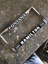 Hamilton Ford Fontana, California License Plate Frame
