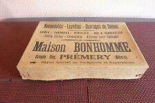 Ancienne Boîte publicitaire carton Maison Bonhomme Prémery 58 B/E