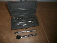 Vtg Craftsman Usa 14 Pc 14 Dr 6 Pt Thumb Wheel Ratchet Socket Set In Case
