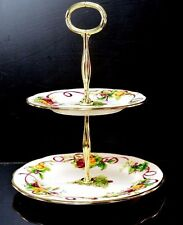 Royal Albert Fine Bone China Old Country Roses Christmas Tree Cake Stand 2-Tier
