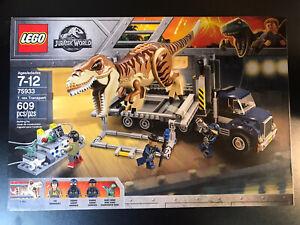 NEW LEGO Set 75933 Jurassic World T. Rex Transport READ