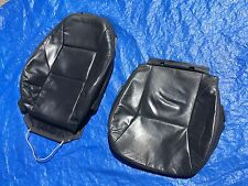 """02 03 Saab 9-3 Convertible Charcoal Driver Side Leather Seat Covers """"Turbo"""" logo"""