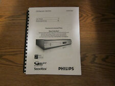 Philips DVDR7300H operating user owner's instruction manual