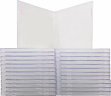 (25) CDBS10CL Empty Clear Plastic CD Jewel Boxes Cases Standard No Trays 10.4MM
