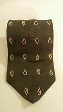 Etienne Aigner Olive Green Paisley 100% Silk Men's Tie