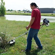 Gas Powered Heavy Duty Brush Cutter String Trimmer Yard Lawn Weed Whacker Eater