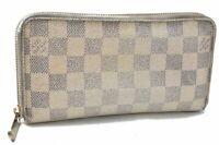 Authentic Louis Vuitton Damier Azur Zippy Wallet N60019 LV B0812
