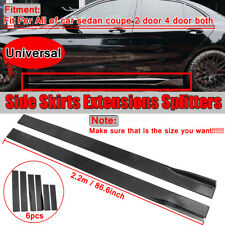 86.6'' Universal Lower Side Skirts Body Kit Rocker Panel Extension Polypropylene