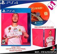 JUEGO FISICO PS4 FIFA 2020 CD NUEVO VERSION ESPAÑOLA  PLAYSTATION 4 + CARATULA