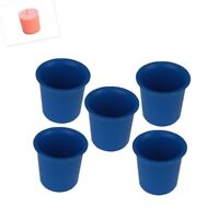 5 x Seamless Votive Candle Making Moulds, UK Made, Rigid Plastic, Craft. S7619