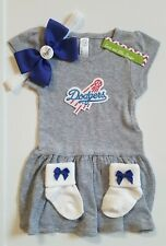 Dodgers infant/baby 3pc dress outfit Dodgers dress Dodges toddler girl clothes