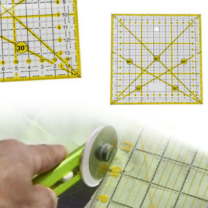 Quilting Sewing Patchwork Ruler 15x15cm Square Transparent DIY Cutting Ruler
