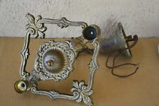 VTG PETITE SMALL ANTIQUE ART DECO ERA CHANDELIER CRILING 2 LIGHT FIXTURE 1930's