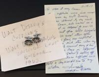 WALT DISNEY Worn Used Owned Cufflinks Disney Studio Wardrobe Prop LOA PROVENANCE