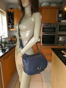 *JOULES* Ladies Navy Blue Textured VEGAN LEATHER CROSSBODY BAG VGC rrp£50