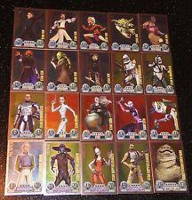 Force Attax Serie 1 alle 20 Star  Karten Neu Star Wars Nr. 151-170 Neu