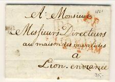 C3424-OLANDA, Holland Fld letter, Amsterdam-Lyon, segni di tassazione +P.P.,1821