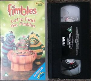 FIMBLES LET'S FIND THE FIMBLES-ANIMATED-KIDS-VHS SMALL BOX-BBC CBEEBIES VIDEO.