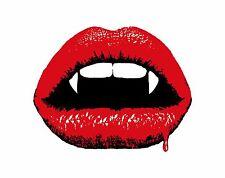 1x autocollant vampire lips bouche sinistre pour pare-choc casque voiture réfrigérateur car home #02