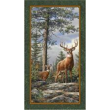 Quilting Treasures ~ Deer Mountain Bucks ~ 100% Cotton Quilting Fabric Panel
