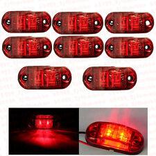 8x Red 12/24v LED Side Marker Light Truck Car Trailers Lorry Van Indicator Lamp