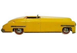 RARE DISTLER D-3200 (US ZONE/GERMANY) 1945-49 YELLOW ENAMEL ,WIND-UP TIN TOY CAR