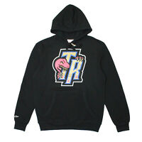 Mens Mitchell Ness Toronto Raptors Gold Bite Pullover Hoodie Black