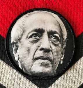 "Jiddu Krishnamurti Embroidered 3"" Patch"